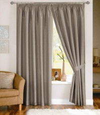 "Fiji Silver Pencil Pleat Curtains 66x90"" / 168x229"