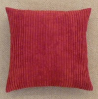 "Jumbo Cord Cushion Cover Red 17""/43cm"
