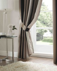 Karok Stripe Noir Curtain Tie Backs (pair)
