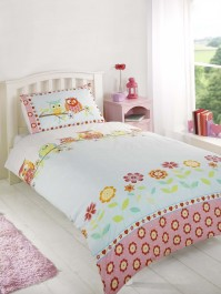 Pretty Owls Duvet Cover Set, Double