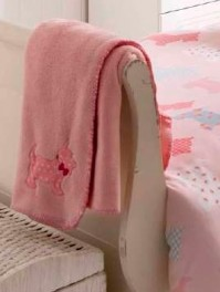 Scottie Pink Throw 120x150cm 