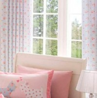 "Scottie Pink Pencil Pleat Curtains 66x72""/168x183cm"