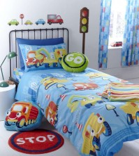 Trucks Duvet Cover Set Single