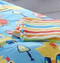 Trucks Bright Stripe Fleece Throw