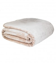 Mink Faux Fur Throw Latte 150x200cm