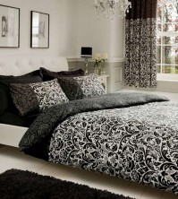 Lexi Damask Monochrome Duvet Cover Set - Double