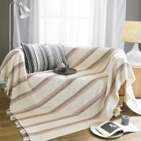 Madrid Stripe Throw Natural 70x100&quot;/178x254cm