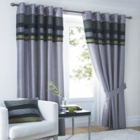 "Newton Eyelet Curtains 66x72"" / 168x183cm"