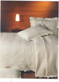 Cream Oriental King Size Bedspread
