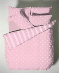 Polka Pink Single Duvet Cover Set