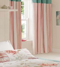 "Portobello Candy Stripe Pencil Pleat Curtains 66x72""/168x183cm"