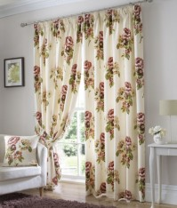 "Primrose Russet Pencil Pleat Curtains 66x90""/168x229cm"