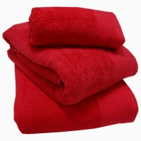 Luxury Egyptian Cotton Red Bath Towels 70 x 130 cm