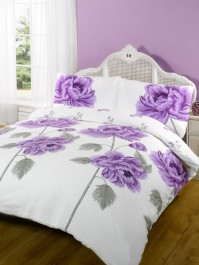 Rosie Heather Floral Duvet Cover Set Double