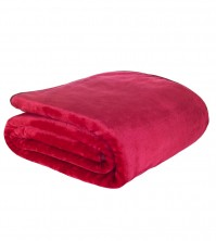 Mink Faux Fur Throw Ruby 150x200cm 