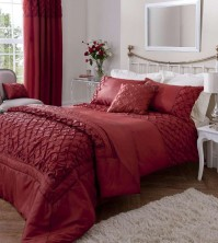 Scrunch Red Single Duvet Cover Set