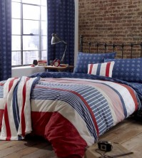 Stars &amp; Stripes Single Duvet Cover Set 