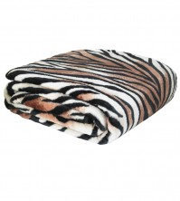Mink Faux Fur Throw Tiger 150x200cm