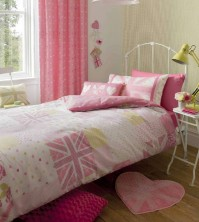 Vintage Britannia Pink Duvet Cover Set Single