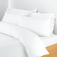 Belledorm Egyptian Cotton 200 Thread Count Duvet Cover - White King Size