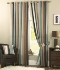 Whitworth Duck Egg Eyelet Curtains 66x72&quot; / 168x183cm