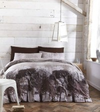 Woodland Charcoal & Black Duvet Cover Set, Single