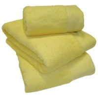Luxury Egyptian Cotton Lemon Bath Sheet 100 x 150cm