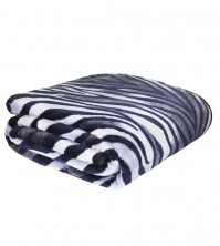 Mink Faux Fur Throw Zebra 150x200cm 