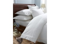 Balmoral White Duvet Cover Set, Double