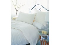 Belledorm 540 Hotel Stripe Ivory Duvet Cover Set - Super King