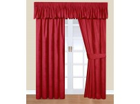 Trocadero Red Chenille Curtains 66x54 / 168x137cm