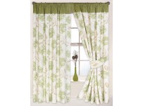 Arabella Green Pencil Pleat 66x108 Curtains 168x270cm
