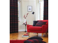 "Arlington Red Eyelet Curtains 90x90""/229x229cm"