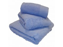 Luxury Egyptian Cotton Blue Bath Towels 70 x 130 cm
