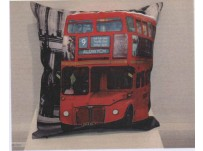 City Red Bus Cushion Cover