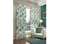 "Camden Teal Pencil Pleat Curtains 66x90""/168x229cm"