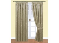 Caroline Mocha Pencil Pleat Curtains 117x230cm
