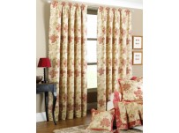"Cheltenham Rust Pencil Pleat Curtains 66x72""/168x183cm"
