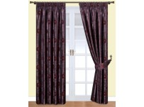 "Cleo Plum Lined Curtains 66x54"" / 168x137cm"