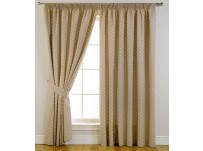 Dotty Blackout Pencil Pleat  46x72 Curtains /117x183cm - Taupe
