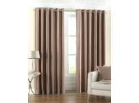 Fiji Latte Eyelet Curtains 46x72 / 117x183cm