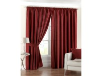 Fiji Red Pencil Pleat Curtains 66x54 / 168x137cm