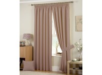 Hudson Coffee Pencil Pleat Curtains 66x54 / 168x137cm
