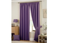 Hudson Heather Pencil Pleat Curtains 46x72 / 117x183cm