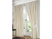 "Jasmin Floral Cream Pencil Pleat Curtains - 66x72""/168x183cm"