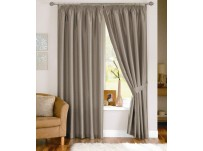 "Fiji Silver Pencil Pleat Curtains 66x54"" / 168x137cm"