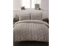 #bedding Cable Knit Duvet Cover Set Single (printed)