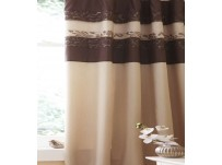 Quilted Damask Gold Pencil Pleat Curtains