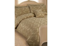Rosalie Jacquard Natural Duvet Cover Set - Super King