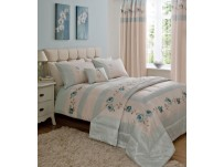 Roses Duck Egg Duvet Cover Set - Single